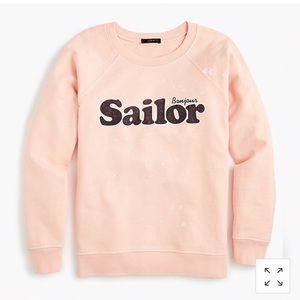 J. Crew light pink sailor sweatshirt XS